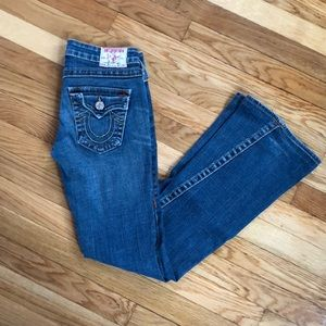 True Religion Size 26 Twisted Flare Joey Jeans